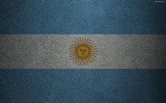 Download wallpapers Flag of Argentina, 4k, leather texture, Argentinean flag, South America, Argentina