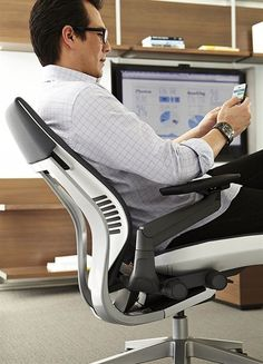 The Steelcase Gesture Chair Supports Texting And Other Modern Postures