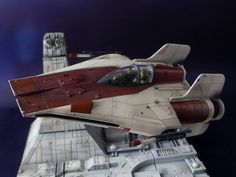 BANDAI 1/72 Scale Model Kit A-Wing Starfighter by どろぼうひげ