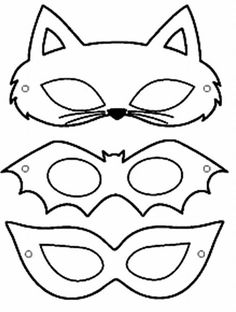 carnival mask molds - Eye Makeup tips Printable Halloween Masks, Printable Masks, Halloween Crafts, Printables, Halloween Kids, Felt Crafts, Paper Crafts, Mascaras Halloween, Carnival Crafts