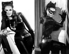Eartha Kitt as Catwoman | Julie Newmar as Catwoman (left), Eartha Kitt as Catwoman (right)