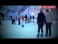 Magical winter ice rink at the Eden Project
