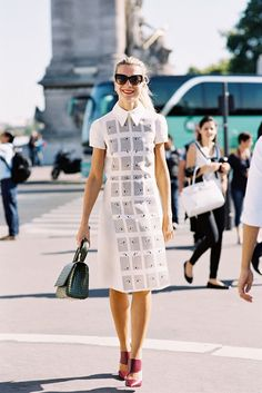 great dress. NJ in Paris. #NatalieJoos