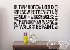 Isaiah 40:31 Christian Subway Art-Religious Bible verse Subway art Vinyl Wall Decal Scripture Verse ISA40V31-0002