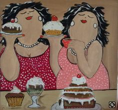 Painting People, Dot Painting, Fabric Painting, Plus Size Art, Fat Art, Sculptures Céramiques, Crazy Friends, Simple Acrylic Paintings, Hippie Art