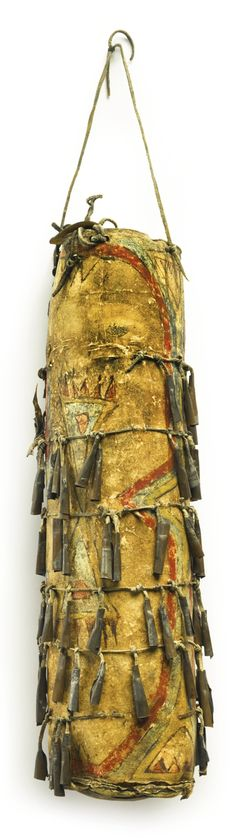 Apache Painted Cylindrical Parfleche Container, Arizona | lot | Sotheby's