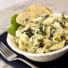 Spinach artichoke pasta - your favorite dip reinvented as a pasta.