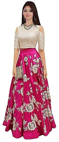 Dresses · Aarna Fashion Women s Cotton Top and Skirt Set (Pink 513ff03e2