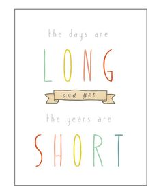 As my little one begins her second week of Junior Kindergarten tomorrow, this print feels very close to home.