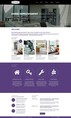 Check out this Home Remodeling Responsive Website Template ( and you might fall in love with it. Clean, professional and straightforward design. Bathroom Renovation Cost, Home Renovation, Home Remodeling, Siding Repair, Decor Around Tv, Interior Design Website, Website Design Cost, Dreams Beds, Wooden Decks