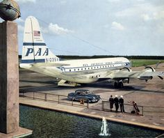 "Pan American World Airways Boeing 377-10-26 Stratocruiser N1035V ""Clipper Flying Eagle"" circa 1949."