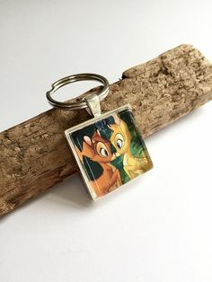 Bambi in love Keyring by BellusJewellery on Etsy