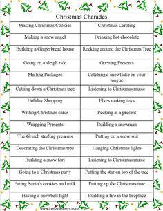 Christmas Charades from thejoysofboys.com. #christmasgames #Christmas #charades
