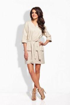 L121 beżowa sukienka