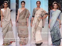 Lakme Fashion Week Summer:Resort 2014- Anavila by Anavila Sindu Misra: lovely linen sarees