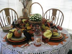 ~Tablescapes By Diane~ #tablescapes #tablesettings