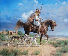 arabian and salukis
