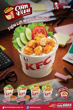 KFC - Posters Food Graphic Design, Food Menu Design, Food Poster Design, Kfc, Food Branding, Food Packaging Design, Food N, Food And Drink, Food Promotion