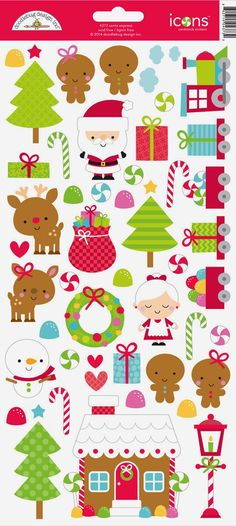 Best Christmas stickers ever: I love the colors!