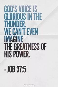 The voice of #God thunders!!