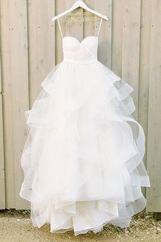 Beautiful White Organza Layered Long Dress
