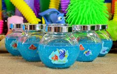 How To Make Finding Dory Glitter Slime Glitter Glue Crafts, Glitter Slime, Homemade Slime, Diy Slime, Borax And Glue, Party Themes For Boys, How To Make Slime, Finding Dory, Soap Recipes