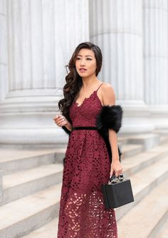 f983ae875805 affordable lace dress christmas holiday party outfit Lace Burgundy Dress, Lace  Dress, Petite Outfits