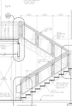 Architecture Collage, Architecture Plan, Architecture Details, Staircase Design Modern, Stair Railing Design, Site Plan Design, Front Elevation Designs, Steel Stairs, Stair Detail