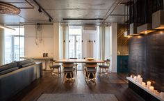 True Apartment  feat WIREFLOW pendant lsmp, designed by Arik Levy for Vibia…