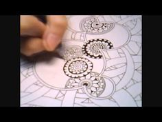 Doodle Botanical Zentangle PART 2