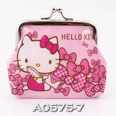 Hello Kitty Frozen UPICK Design PU Kisslock Clutch Coin Bag Purse Wallet A0575