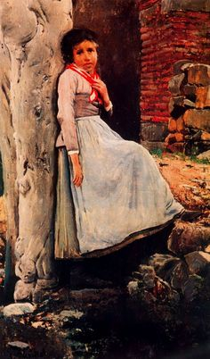 Paintings of Spring: Santiago Rusiñol februarie 1861 – 13 iunie pictor și scriitor catalan Art Painting, Spanish Artists, Figure Painting, Painting Illustration, Pablo Picasso Cubism, Culture Art, Painting, Female Art, Post Impressionists