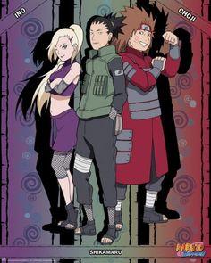 Poster Naruto Shippuden Ino Shika Cho