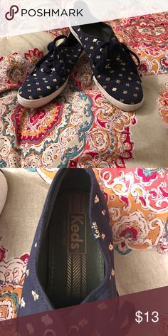 Navy and gold Keds Keds Keds Shoes Sneakers