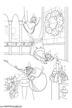 House Colouring Pages, Coloring Book Art, Coloring For Kids, Coloring Sheets, Adult Coloring, Disney Princess Coloring Pages, Disney Princess Colors, Sleeping Beauty Coloring Pages, Christmas Coloring Pages