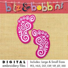 Digital Embroidery Design  INSTANT DOWNLOAD DIGITAL FILE: Includes PDF color sheet and 2 convenient sizes:  Larger Size: 4.32 in x 5.73 in  109.9