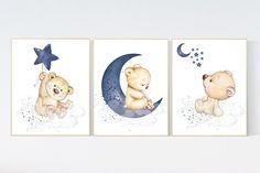 Elephant Wall Art, Giraffe Nursery, Nursery Decor Boy, Baby Room Decor, Nursery Prints, Nursery Wall Art, Elephant Print, Teddy Bear Nursery, Mothers Day Drawings