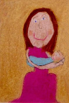 art in the style of mary cassat - depicting a close relationship between two people (mother's day project?)