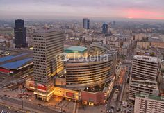 Urban Landscape at sunset.