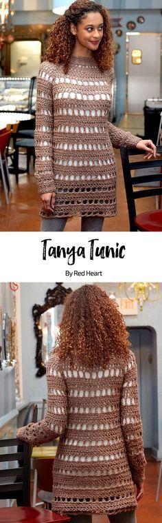 Tanya Tunic free crochet pattern in Dreamy yarn.