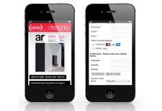 Subscriptions page for DesignEx by Callum SIlcock, via Behance