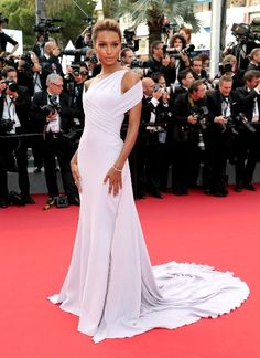 """The Beguiled"" screening during the 70th annual Cannes Film Festival at Palais des Festivals 5/24/2017 Cannes, France -Jasmine Tookes in Georges Chakra"