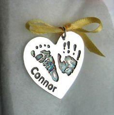 Large handprint charm