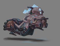 Bernas Hoverbike by ~LigerNekoka on deviantART