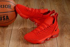 Nike LeBron 16 'All Red' (Red October) Mens Basketball Shoes Air Max 95, Nike Air Max, Nike Air Jordans, Shoes Jordans, Lebron James, Lebron 16, Nike Lebron, Basketball Tricks, Jordan Basketball Shoes