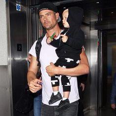 Joshua Duhamel with son Axl, who wears the nununu Plus Leggings .