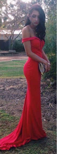 Red prom dresses,prom dresses 2016,cap sleeves prom dresses,sweep train prom dresses,chiffon prom dresses,formal evening gowns