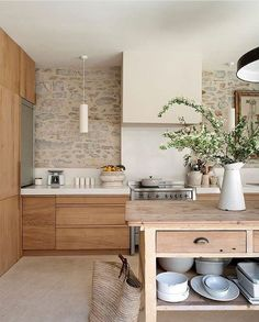 modern natural kitchen