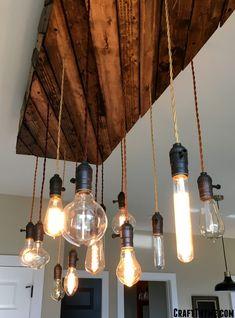 Bedroom lighting fixtures diy edison bulbs 43 Ideas for 2019 Vintage Industrial Lighting, Rustic Lighting, Unique Lighting, Lighting Ideas, Table Lighting, Industrial Lamps, Industrial Style, Outdoor Lighting, Edison Bulb Chandelier