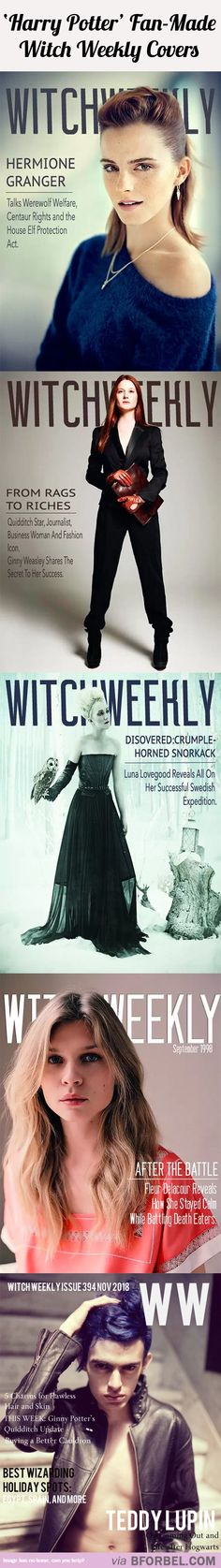 5 Cover Faces For Witch Weekly Magazine…